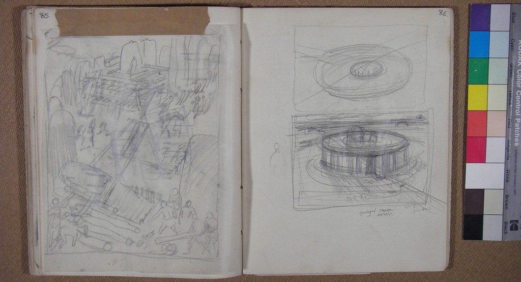 Stonehenge preparatory sketches, Alan Sorrell