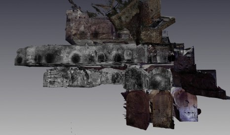 Laser scan showing different floors of the insula