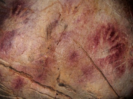 The Panel of Hands in El Castillo cave in Cantabria northern Spain (Joao Zilhao)