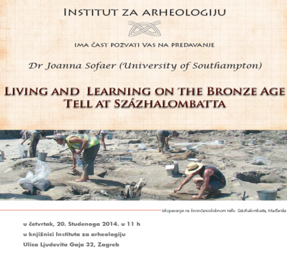 Lecture at the Institute of Archaeology in Zagreb
