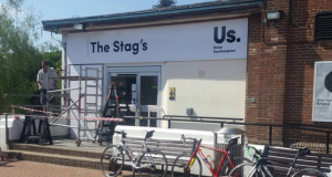 This one of the pictures reported by the Soton Tab, showing the new signage on the Stag's Head (Photo Credit: Soton Tab)