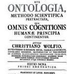 Frontispiece of a paper from Wolff called, 'Ontologica.'