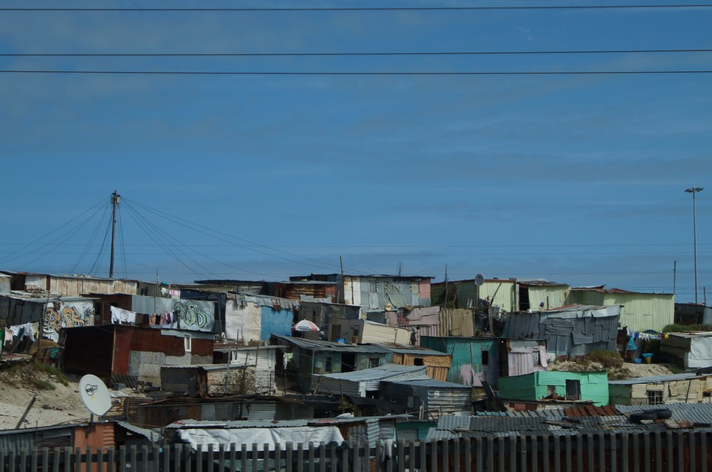The townships in South Africa (this is a photo of Khayelitsha) have disproportionate levels of crime, alcoholism and mental health problems. But they are also full of a liveliness and vibrancy like nowhere else.