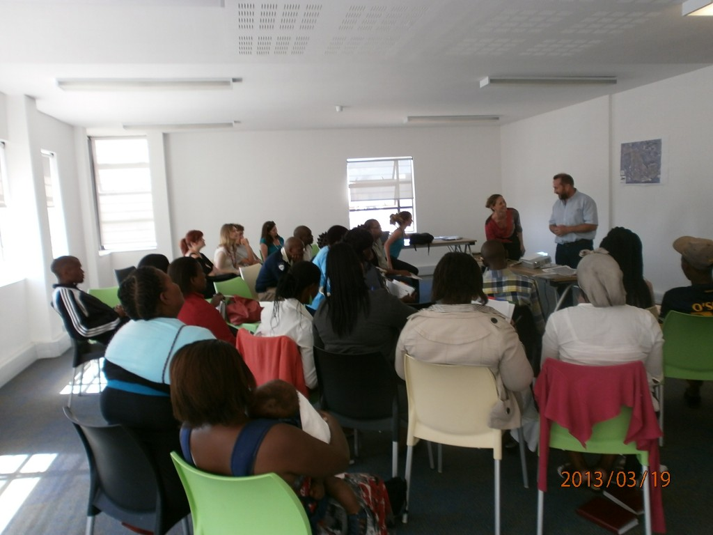We were lucky enough to attend a small talk in Khayelitsha for locals who want to help reduce the impact of the high levels of alchohol abuse in the township