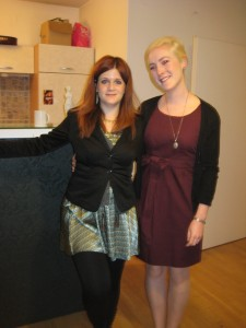Lotte and I on ICOCS presentation day (in our apartment in Vienna)