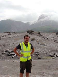 At the Soufriere Hills lava dome in Montserrat.