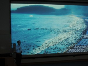 Sebastian Pitman presenting at the Postgraduate Research in Marine and Earth Science Conference, 2013