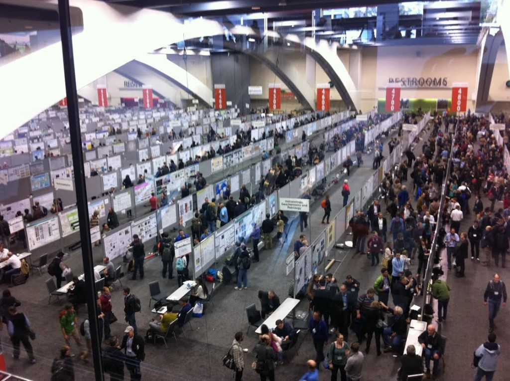 A fraction of the poster rows on display at the Moscone South Poster Hall.