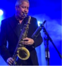 photograph of saxophonist