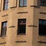 Turkish verb endings on Kreuzberg façade