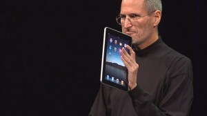 Steve Jobs shows off the iPad. Picture by curiouslee