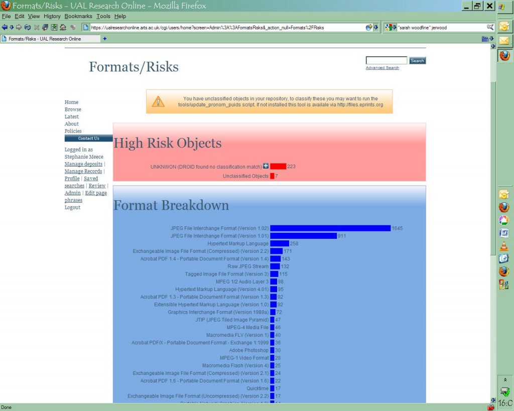 UAL Formats and Risks Screenshot 1