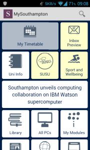 """Inbox Preview"" icon in the My Southampton app"