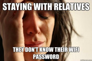 """A Typical """"First World Problems"""" Meme around the holiday season."""