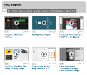 New courses are added to Lynda.com every month
