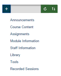 The new default course menu
