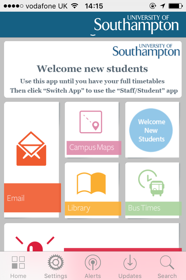 University of Southampton Mobile Apps for Pre-sessional Students