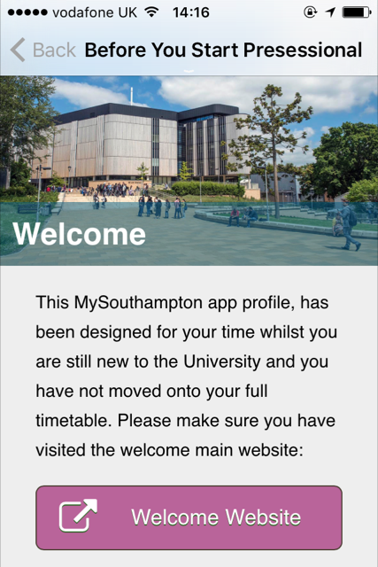 The MySouthampton app, is the University of Southampton's official app for students and staff giving you access to map services, emails, timetables and more. This app is also available to Guests and Prospective Students with Family and Friends who wish to visit the University.