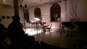 Just before the gig