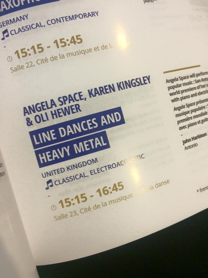 Angela's concert in the programme