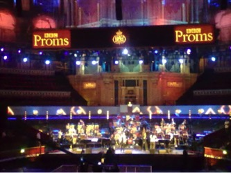 The Guy Barker and Winston Rollins Big Bands in rehearsal with singer Clare Teal for the 'Story of Swing' Prom