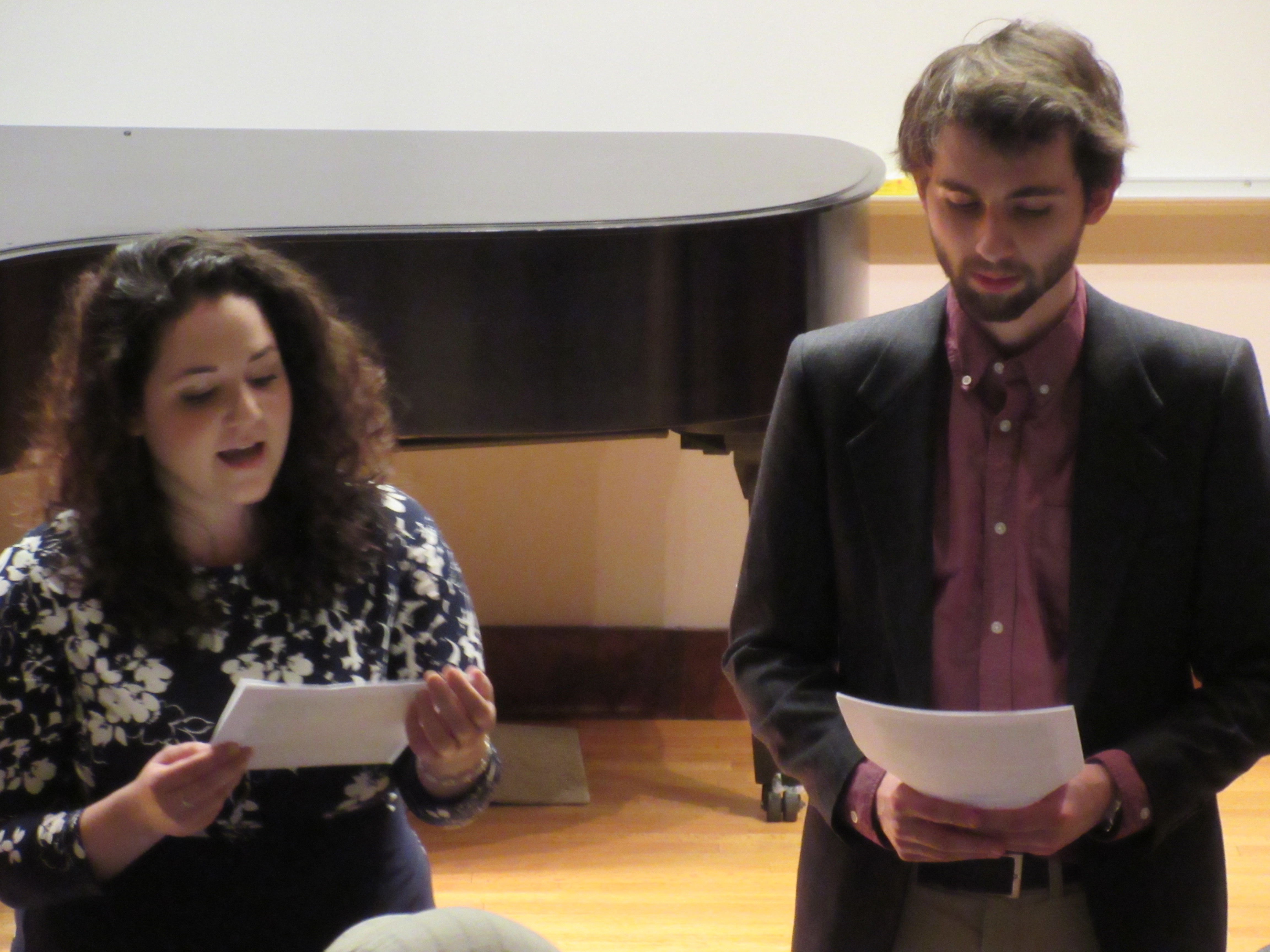 Crane students gave a performance of Nadia Boulanger's farewell speech to Crane students after WWII
