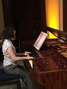 Katrina Faulds at the Collard and Collard square piano