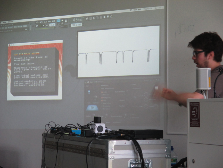 Blake Troise (aka 'PROTODOME') demonstrates how one-bit waveforms can be manipulated to simulate harmony and polyphony.