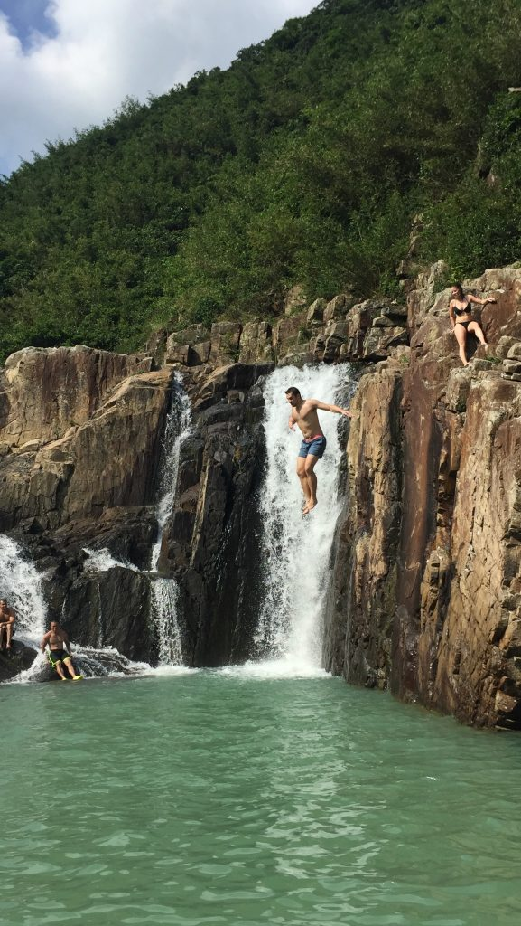 waterfall leap