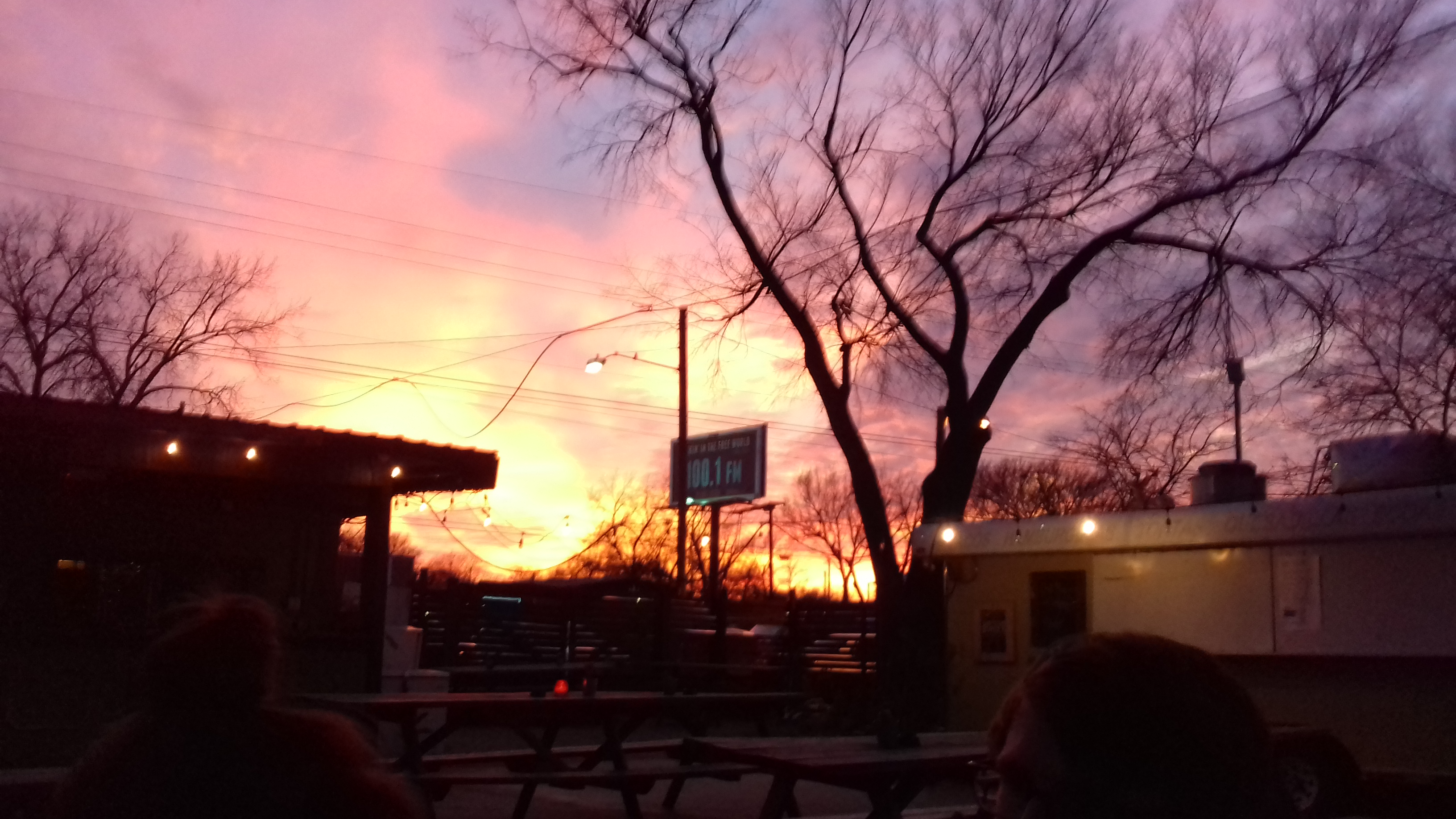 Sunset from a dive bar