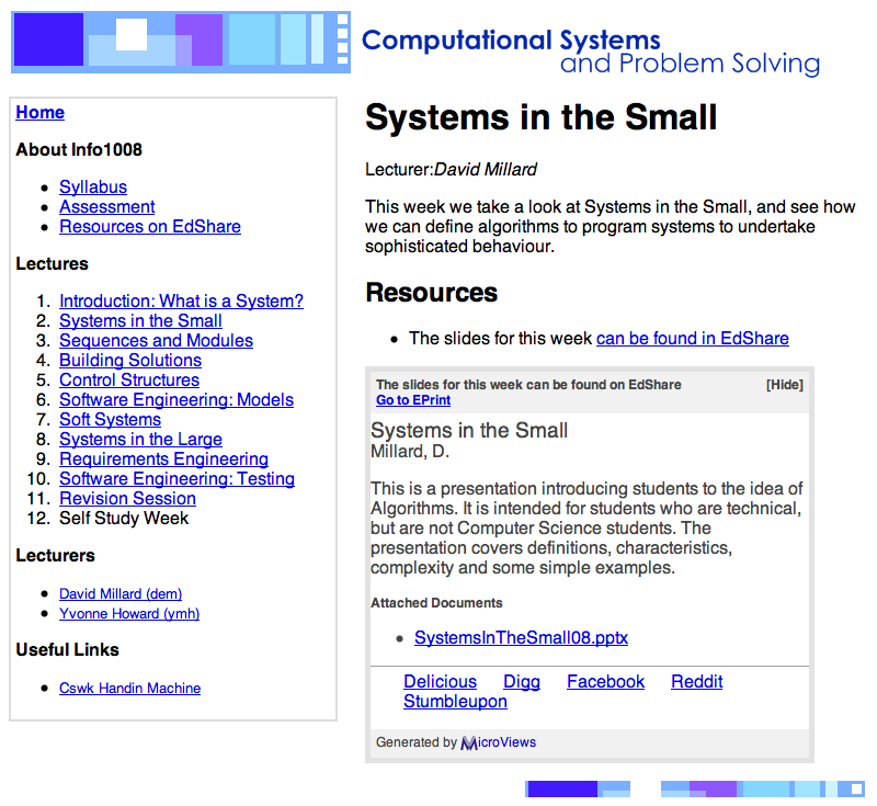 An example of a MicroViews InPlace view on a course notes page.