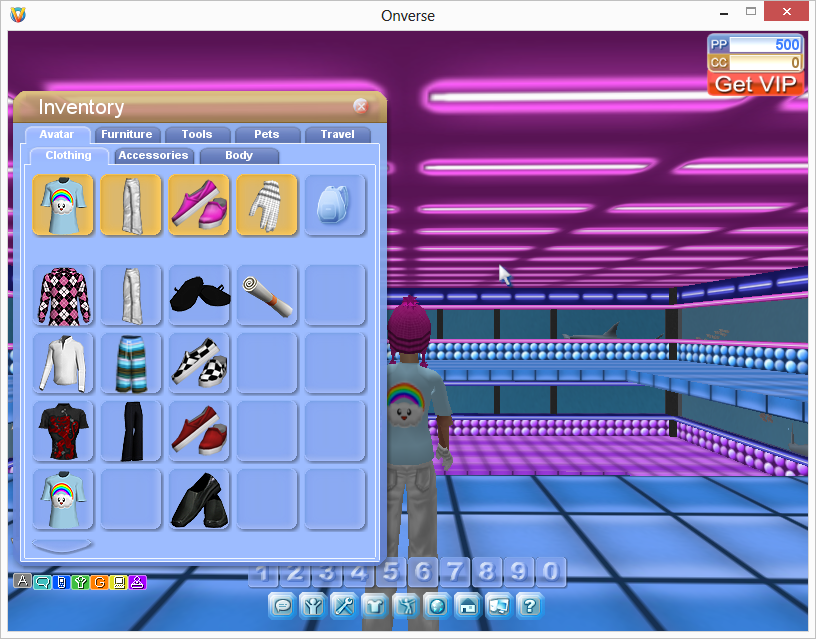 An individual play games, go shopping, decorate rooms and change their profile and avatar.