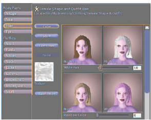 Figure 2: Avatar customization in Second Life [2]