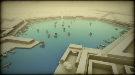 Computer Graphic Reconstruction of Portus (BBC/ Portus Project)