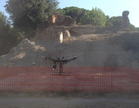 DJI Innovations drone at Portus