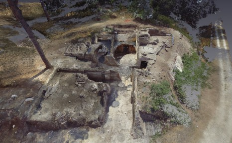 Aerial view of the 2013 Excavation