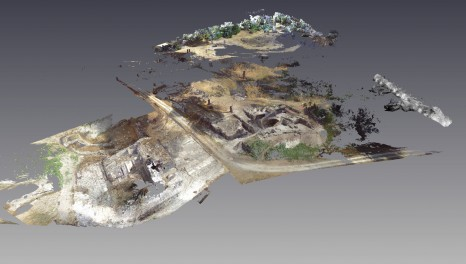 Overall view of scanned areas of the 2007-2013 excavations