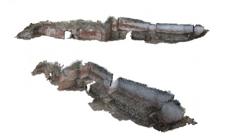 Photogrammetry model of Building 1 and Period 6A defensive wall from 2008