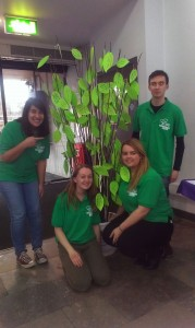 Ethical & Environmental Committee promise tree of student sustainability pledges