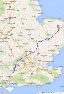 The planned route