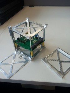 First dress rehearsal of the on-board computer and the load-bearding CubeSat structure.