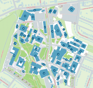 A map of the University