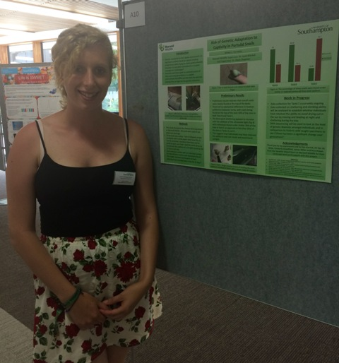 Presenting my poster at the University of Southampton's postgraduate symposium