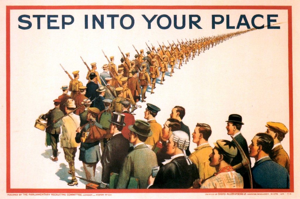 'Step into your Place' - Artist Unknown - 1915.