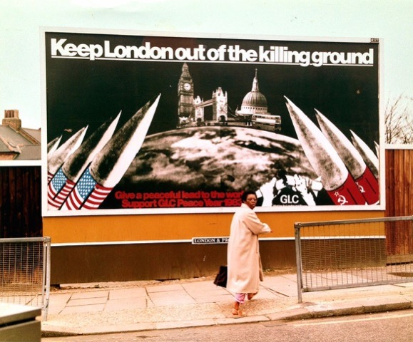 Peter Kennard, 'Keep London out of the killing ground', GLC Peace Year poster, 1983.  Photograph by the GLC, collection of the artist.