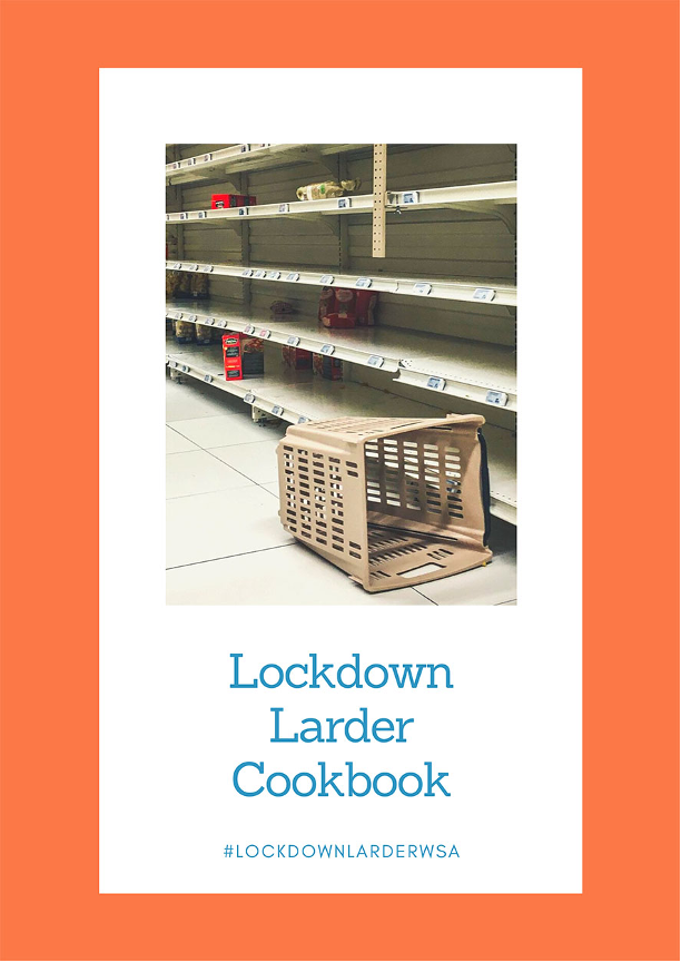 cover of the Lockdown Larder Cookbook