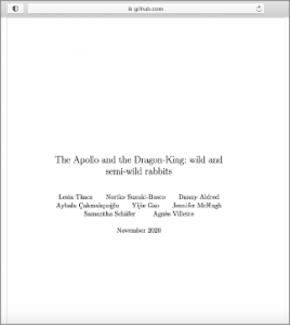 Title page: The Apollo and the Dragon-King: wild and semi-wild rabbits