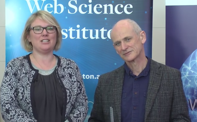 Johanna Walker and Mark Frank presenting their data literacy work at the 10 years of Web Science event #websci10