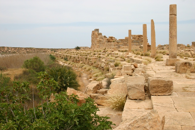 The harbour at Leptis Magna