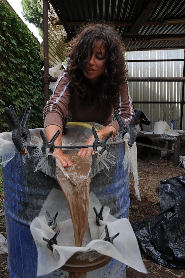 Washing palaeobotanical material from soil samples